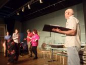 879 Cast rehearsing in  Dont talk to the Actors
