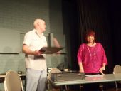 869 Cast rehearsing in  Dont talk to the Actors