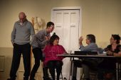 0958 Cast rehearsing in  Dont talk to the Actors