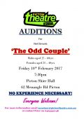 2017 Auditions for 7 people for The Odd Couple JPG Flyer