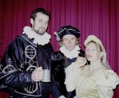 Blackadder and Lord Melchett and Lady Farrow